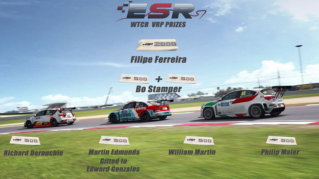 ESR WTCR 2018 VRP Winners