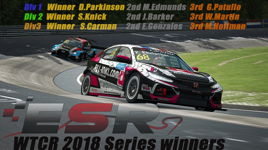 ESR WTCR 2018 Final Standings