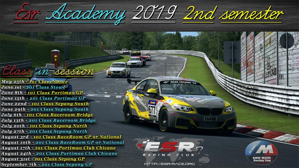 ESR Academy 2019 2nd Semester