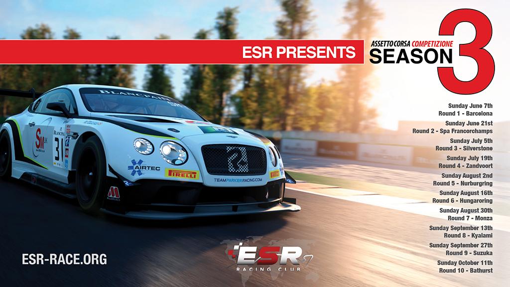ESR GT3 series in Assetto Corsa Competizione