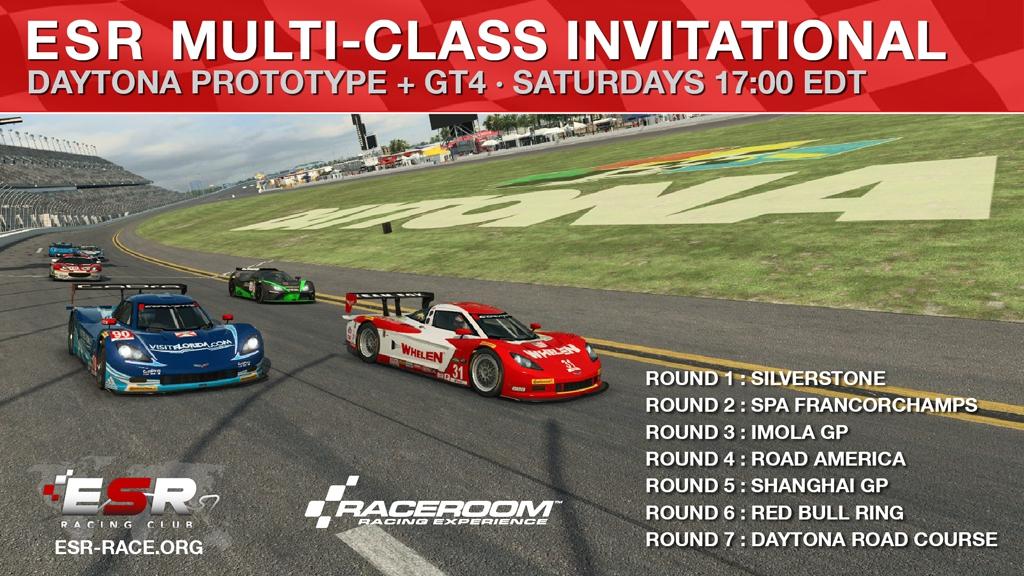 ESR Daytona Prototype and GT4 racing series in Raceroom