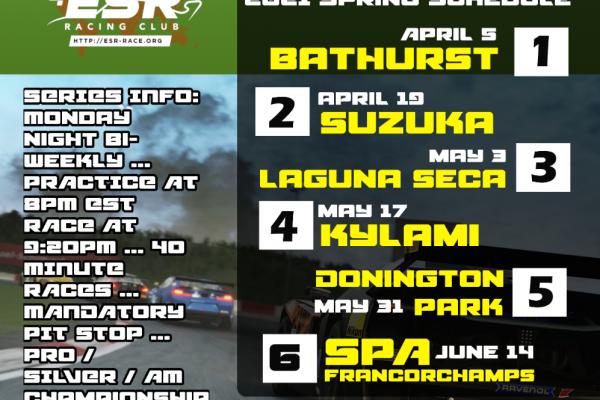 ESR GT4 world tour in ACC