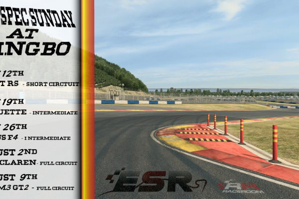 ESR Ningbo Spec Racing Sunday Series in Raceroom