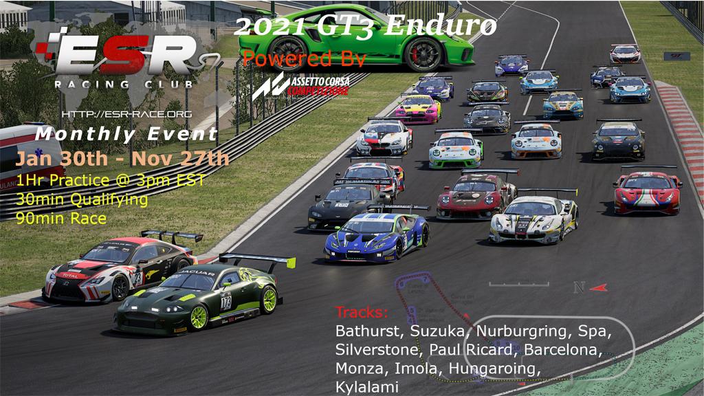ESR 2021 Endurance Racing Series