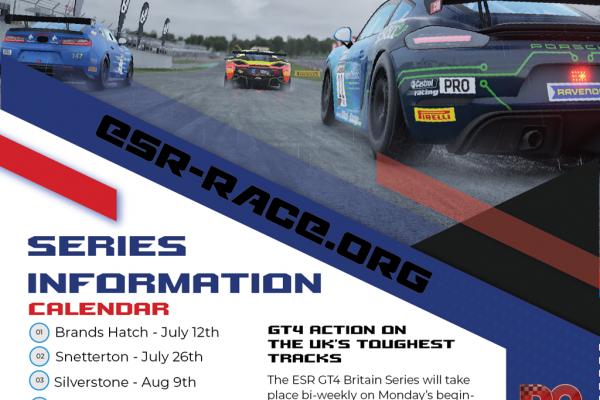 ESR GT4 Britain Series Poster