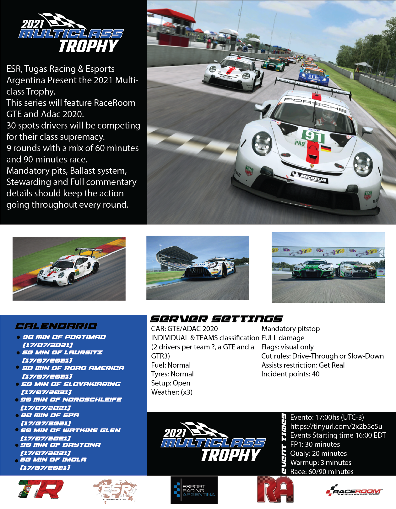 ESR 2021 Multiclass Series Poster